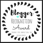 Thank you for the nomination for the Blogger Recognition Award!